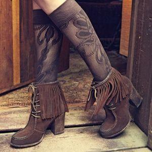 FRYE Fringe Ankle  Boho boots